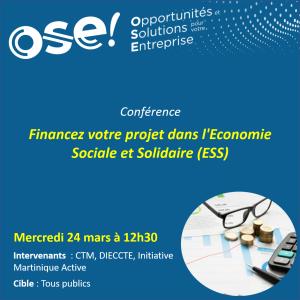 Financez votre projet dans l'Economie Sociale et Solidaire (ESS) - 24/03 12h30 (Présentiel)