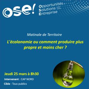 CAP NORD, découvrez les opportunités d'activités pour entreprendre dans le Nord ! - 25/03 10h30 (Présentiel)