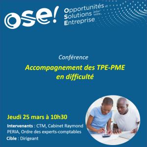 Accompagnement des TPE-PME en difficulté - 25/03 10h30 (Présentiel)