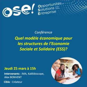 Quel modèle économique pour les structures de l'Economie Sociale et Solidaire (ESS)? - 25/03 15h (Présentiel)