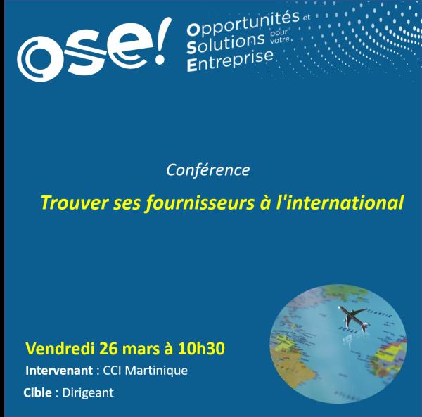 Trouver ses fournisseurs à l'international - 26/03 10h30 (En ligne)