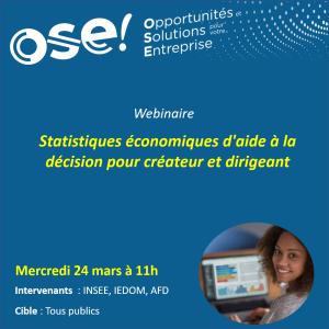 Statistiques économiques d'aide à la décision pour créateur et dirigeant - 24/03 11h (En ligne)