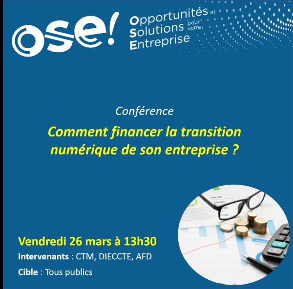 Comment financer la transition numérique de son entreprise ? - 26/03 13h30 (En ligne)