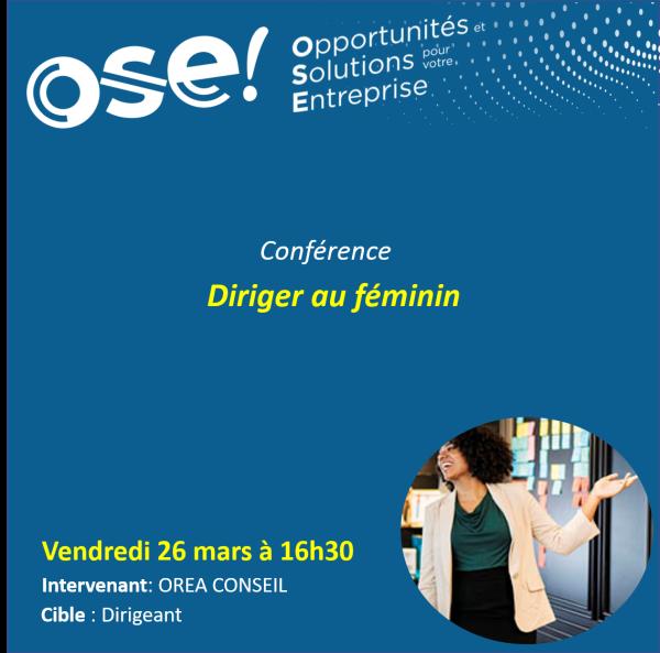 Diriger au féminin - 26/03 16h30 (En ligne)
